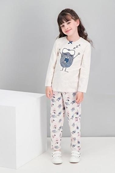 Roly Poly Rolypoly Little Monster Kremmelanj Kız Çocuk Pijama Takımı Krem